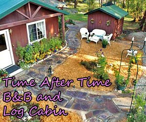 Time After Time B&B and Dragonfly Cabin : Nestled within pine trees, our park-like grounds, pond and access to the Bitterroot River make us a wildlife paradise. Fishing close by, unique & warm room styles, plus delectable daily made-to-order breakfasts.