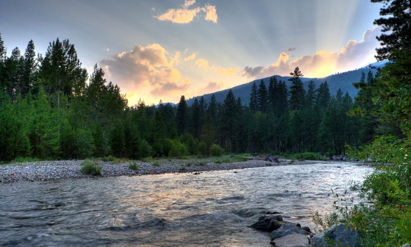 Bitterroot Mountains Montana River Missoula