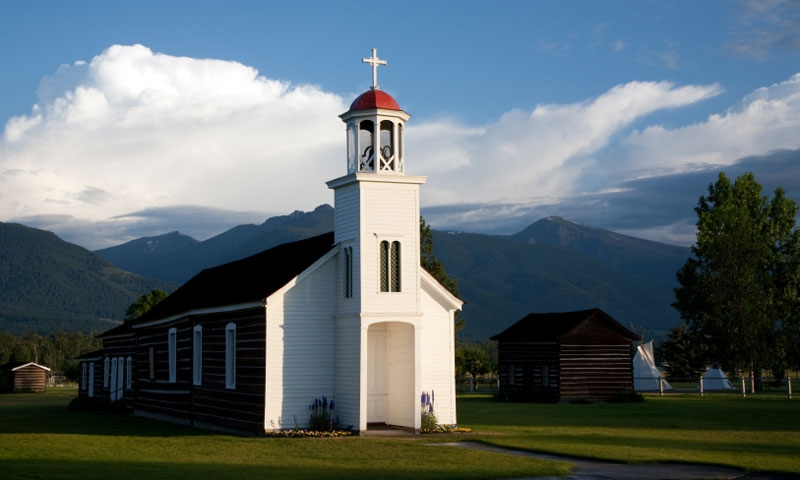 Saint Marys Mission in Stevensville Montana