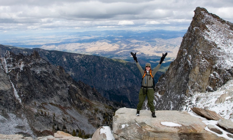 At the Summit of Trapper Peak in the Bitterroots