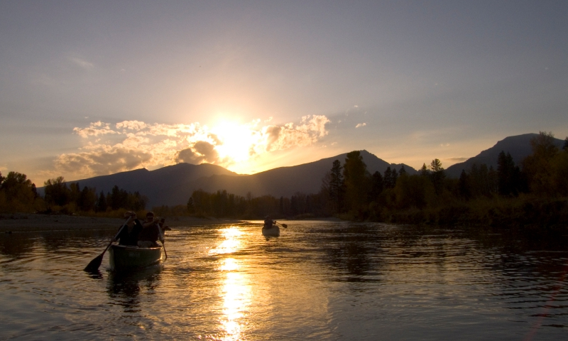 Bitterroot Mountains Montana River Missoula Canoeing Canoe